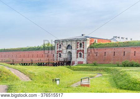 Szczebrzeska Gate Of Fortifications Around Old Town Of Zamosc. Historical City In Southeastern Polan