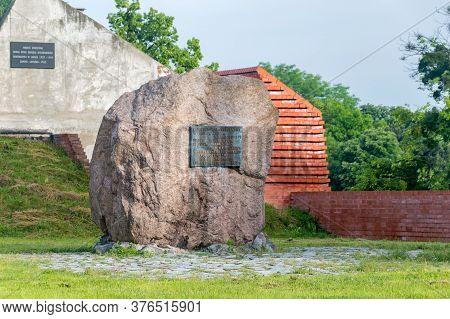Zamosc, Poland - June 12, 2020: Monument Commemorating The Children Of The Zamość Region Who Were Mu