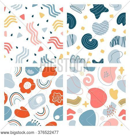 Abstract Doodle Pattern. Hand Drawn Modern Textured Contemporary Graphic Background, Creative Abstra
