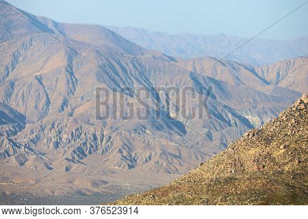 Arid Barren Mountains During The Afternoon Lighting Creating Natural Shadows Taken In The Rural Colo
