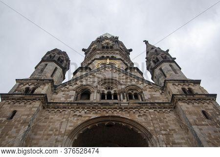 A Facade Of An Old Kaiser Wilhelm Memorial Church