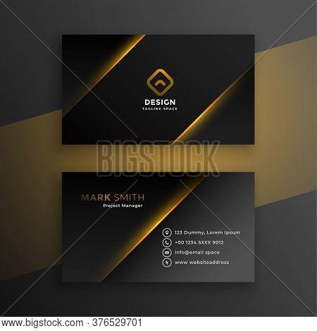 Shiny Black Modern Business Card Template Design