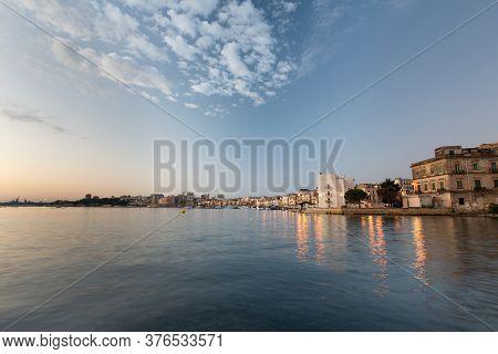 Taranto City In Morning Light. Italy, Puglia
