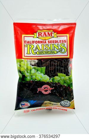 Quezon City, Ph - July 8 - Ram California Seedless Raisins Pack On July 8, 2020 In Quezon City, Phil