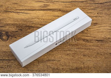 Wetzlar, Germany - 2020-07-10: Apple Pencil Is A Wireless Stylus Pen Accessories Designed, And Devel