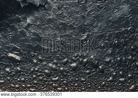 burning blister paint on metal surface background