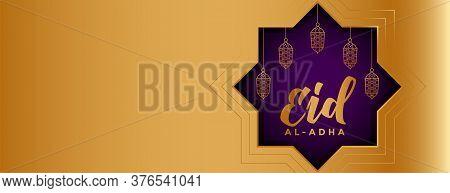 Eid Al Adha Mubarak Festival Wide Banner Design