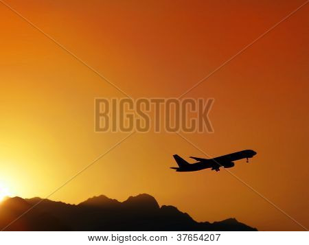 airplane flying up