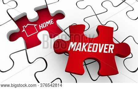 Home Makeover Puzzle Pieces Secret Answer Sell Home 3d Illustration