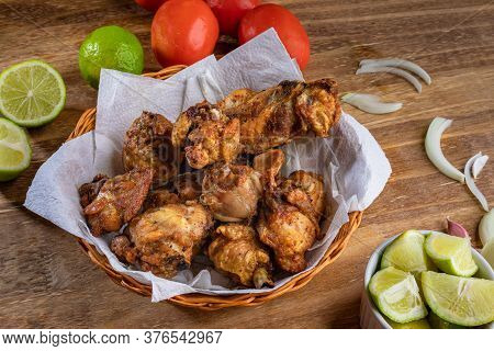 Brazilian Style Deep Fried Chicken. Called Frango A Passarinho. Top View