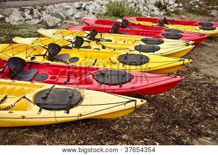 Colorful Touring Kayaks