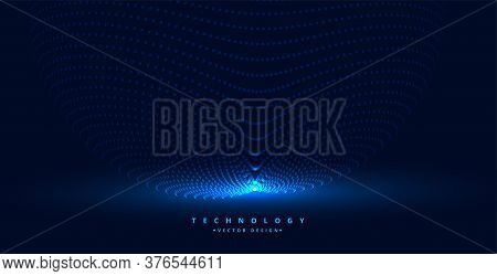 Technology Particles Background With Light Source Design