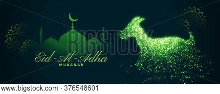 Eid Al Adha Bakrid Festival Green Banner Design
