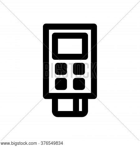 Contactless Payment Purchase Icon. Debit Or Credit Card And Pos Terminal. Vector Illustration Icon.