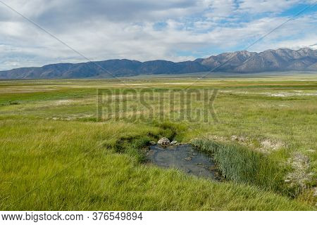 Wild Willys Hot Spring In Long Valley, Mammoth Lakes, Mono County, California. Usa. Natural Hot Spri