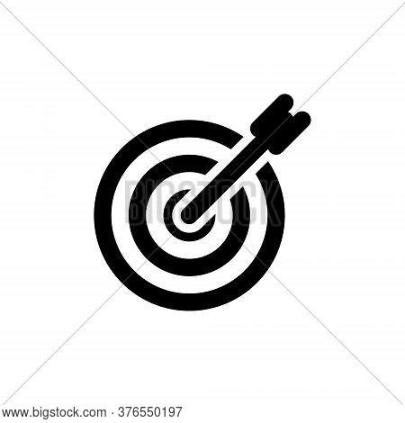 Successful Shoot Icon. Darts Target Aim Symbol. Vector Illustration.