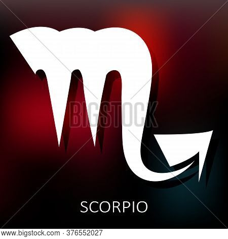Zodiac Sign Scorpio Isolated On Bright Background. Zodiac Constellation. Design Element For Horoscop