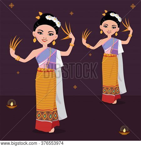 Thai Traditional Dance - Folk Dance In Northern Of Thailand.