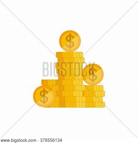 Financial Growth Concept With Golden Coin Dollar. Financial Growth, Money Growth, Investment, Profit