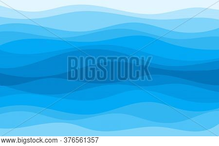 Abstract Patterns Of The Deep Blue Sea Ocean Wave Banner Vector Background Illustration