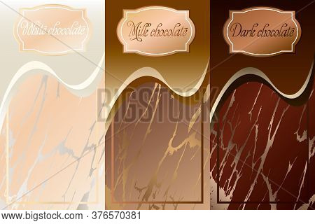 Collection Of Vector Banners For Chocolate.vector Banners For White, Milk And Black Chocolate.