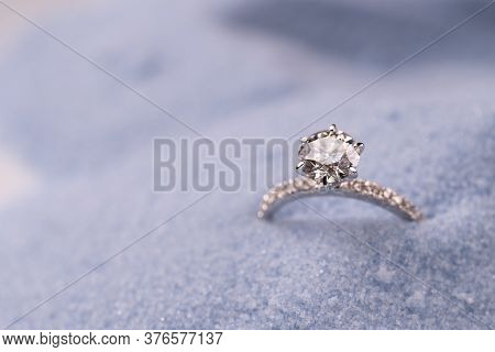 Engagement Diamond Ring. Precious Luxury Jewelry Ring