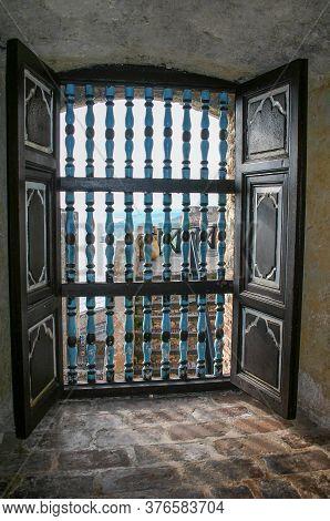 Santiago De Cuba, Cuba - November 08 2006: Inside Castillo Del Morro San Pedro De La Roca Fortress,