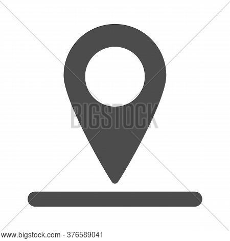Location Of Golf Hole On Map Solid Icon, Golf Concept, Golf Position Sign On White Background, Pin G
