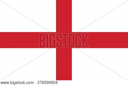 England Flag Vector Graphic. Rectangle English Flag Illustration. England Country Flag Is A Symbol O