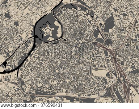 Map Of The City Of Lille, France