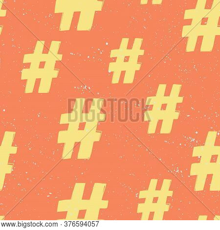 Hashtag. Seamless Pattern, Great Design For Any Purposes. Abstract Modern Graphic Element. Geometric