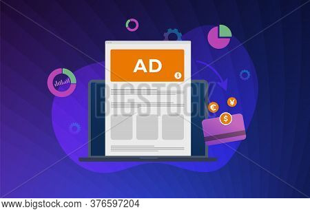 Online Advertising Revenue Increase Vector Illustration Concept. Data-driven Marketing With Lead Gen