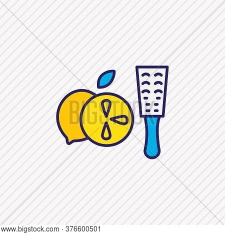 Vector Illustration Of Zester Icon Colored Line. Beautiful Kitchenware Element Also Can Be Used As G