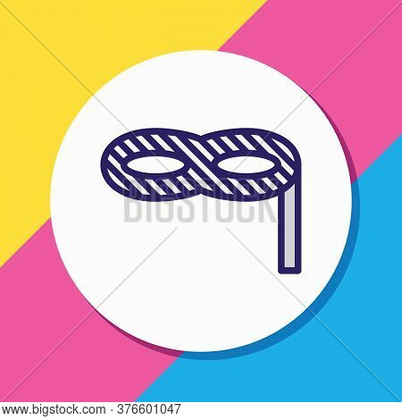 Vector Illustration Of Mask Icon Colored Line. Beautiful Party Element Also Can Be Used As Masquerad