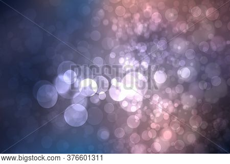 Abstract Dark Blue Gradient Pink Purple Background Texture With Glitter Defocused Sparkle Bokeh Circ