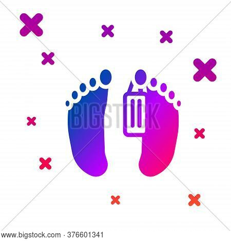 Color Dead Body With An Identity Tag Attached In The Feet In A Morgue Of A Hospital Icon Isolated On