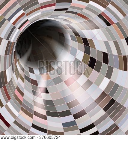 Light Colored Vector Illustration Abstract Dark Open Hole