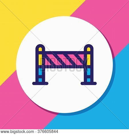 Vector Illustration Of Barrier Icon Colored Line. Beautiful Industry Element Also Can Be Used As Roa