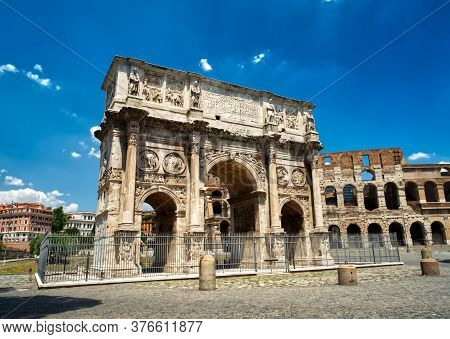 Arch Of Constantine In Rome In Italy