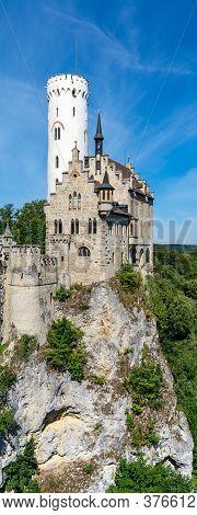 Lichtenstein, Bw / Germany - 13 July 2020: View Of The Lichtenstein Castle In Southern Germany