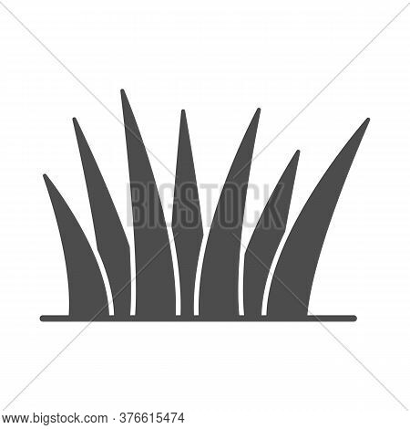 Grass Solid Icon, Nature Concept, Lawn Sign On White Background, Grass Leaves Icon In Glyph Style Fo