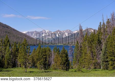 Scene In The Never Summer Mountains. The Scenic Beauty Of Colorado