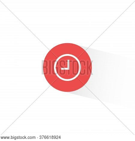Clock Button Icon Vector In Trendy Flat Style. Pending Symbol Illustration