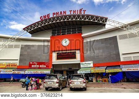 Asia, Vietnam, Phan Thiet , November, 15, 2014 - Trade Market Building In Phan Thiet, Vietnam