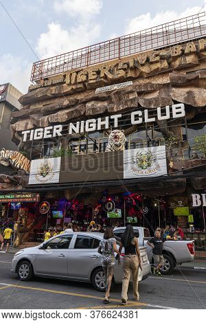 Thailand, Phuket, April 15, 2020: Tiger Night Club On Bangla Road, The Center Of Night Life