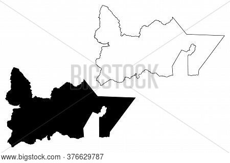 Southern Peninsula Region (iceland Island, Regions Of Iceland) Map Vector Illustration, Scribble Ske