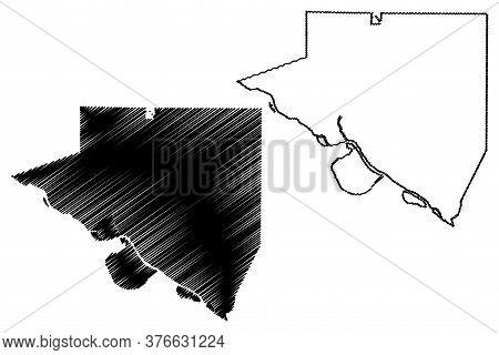 Randolph County, Illinois (u.s. County, United States Of America, Usa, U.s., Us) Map Vector Illustra