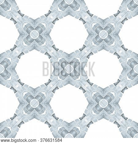 Chevron Watercolor Pattern. Black And White Eminent Boho Chic Summer Design. Textile Ready Adorable