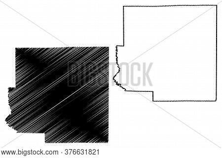 Richland County, Illinois (u.s. County, United States Of America, Usa, U.s., Us) Map Vector Illustra