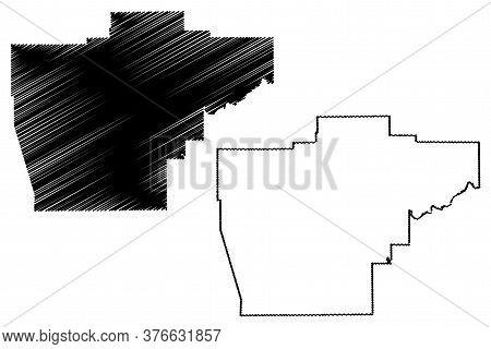 Sangamon County, Illinois (u.s. County, United States Of America, Usa, U.s., Us) Map Vector Illustra